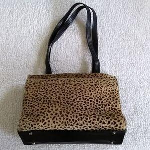 Cheetah print shoulder bag
